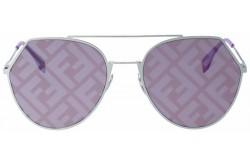 نظارة شمسية FENDI للنساء دائري لون فضي - FF0194S-GMEBF
