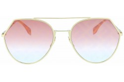 FENDI SUNGLASS FOR WOMEN ROUND GOLD - FF0194S OBL0M