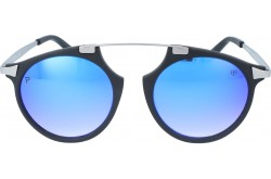 VINTAGE SUNGLASS FOR UNISEX ROUND BLACK - FV02  4