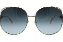GUCCI SUNGLASS FOR WOMEN ROUND GOLD - GG0225S  001