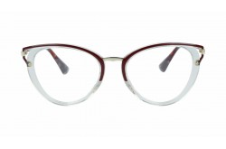 PRADA FRAME FOR WOMEN CAT EYE BURGUNDY - PR53U VYT-101