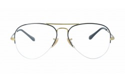 RAYBAN  FRAME FOR UNISEX AVIATOR BLACK AND GOLD - RB6589  2946