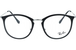 RAYBAN  FRAME FOR UNISEX SQUARE BLACK AND SILVER - RB7140 5852
