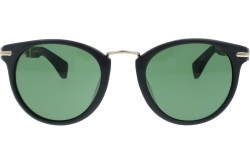 RETRO SUNGLASS FOR UNISEX ROUND BLACK MATT - RT1663  03