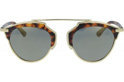 RETRO SUNGLASS FOR WOMEN ROUND GOLD AND BROWN - RT1673  04