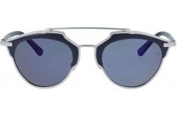 RETRO SUNGLASS FOR WOMEN ROUND SILVER AND BLUE - RT1674  02