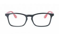 RAYBAN  FRAME FOR KIDS RECTANGLE BLACK AND RED - RY1553 3725