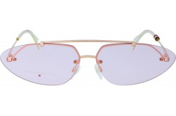 TOMMY HILFIGER SUNGLASS FOR WOMEN ROUND GOLD - TH1660S   EYRU1