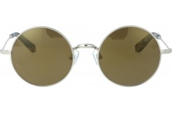 VINTAGE SUNGLASS FOR UNISEX ROUND GOLD - V1501  1