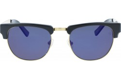 VINTAGE SUNGLASS FOR UNISEX CLUBMASTER BLACK AND GOLD - V1504  3