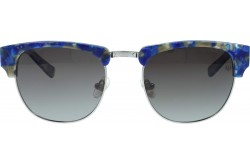 VINTAGE SUNGLASS FOR UNISEX CLUBMASTER BLUE AND SILVER - V1504  4