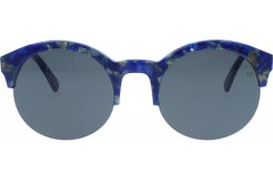 VINTAGE SUNGLASS FOR WOMEN ROUND BLUE - V1506  6