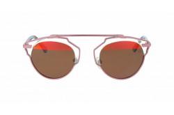 نظارة شمسية VINTAGE للنساء دائري لون زهري - V1515  1