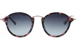 VINTAGE SUNGLASS FOR WOMEN ROUND BLACK AND PINK - V1611  6