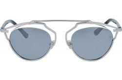 نظارة شمسية VINTAGE للنساء دائري لون فضي - V1620  1