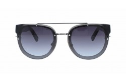 VINTAGE SUNGLASS FOR UNISEX ROUND BLACK - V1690  3