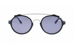 VINTAGE SUNGLASS FOR UNISEX ROUND BLACK - V20  4