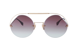 FENDI SUNGLASS FOR WOMEN ROUND GOLD - FF0325S   QHO3X