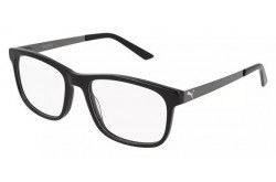PUMA FRAME FOR UNISEX SQUARE SILVER AND BLACK - PE0056O  001